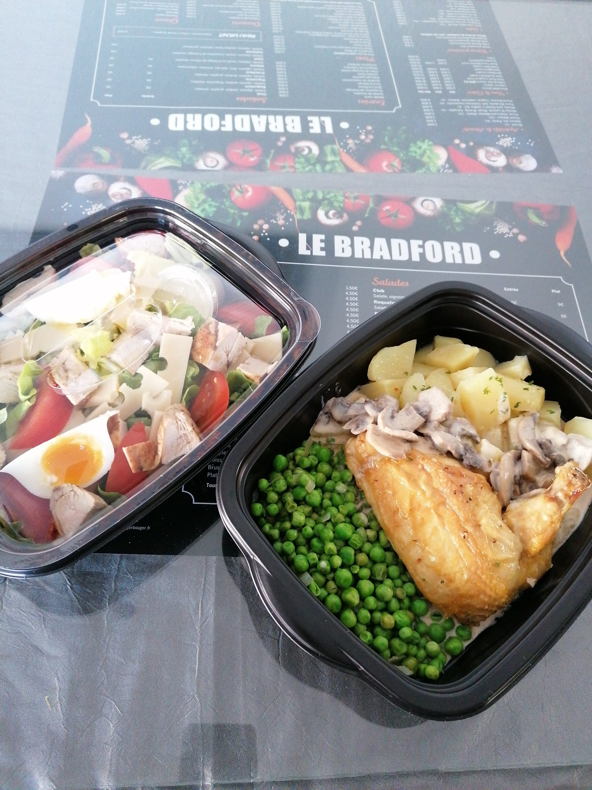 Plat et salade du jour